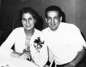 Joe with his mom