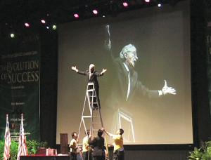 Joe Standing on a Ladder